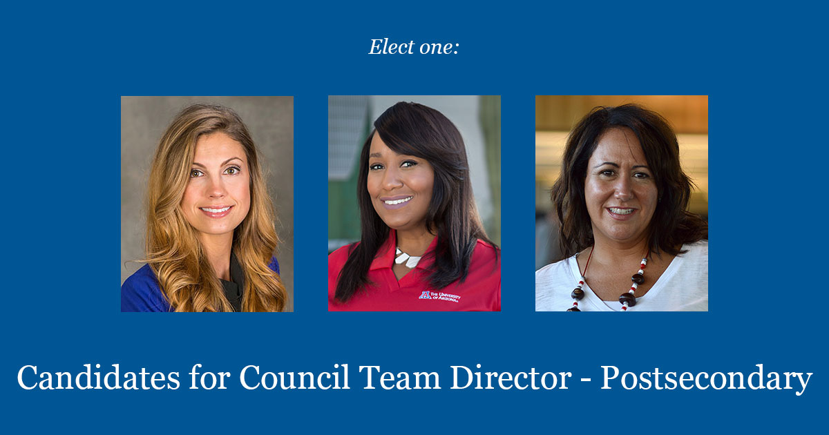 Candidates For Council Team Director – Postsecondary 2017-2018