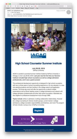 IACAC Advertising Email